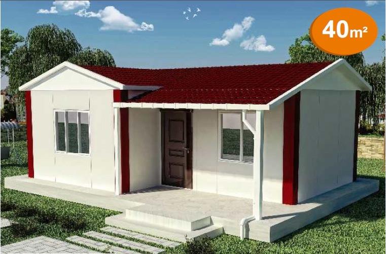 Prefabrik Tek Katlı Evler