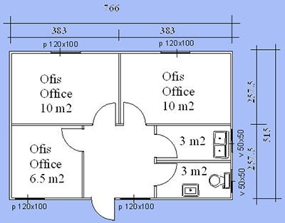 Prefabrik Ofis Projesi 02