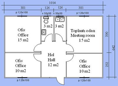 Prefabrik Ofis Projesi 06