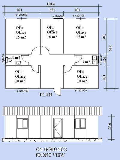 Prefabrik Ofis Projesi 07