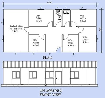 Prefabrik Ofis Projesi 09