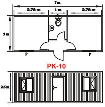 Şantiye Ofis Konteyner Projesi 10