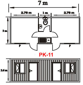 Şantiye Ofis Konteyner Projesi 11