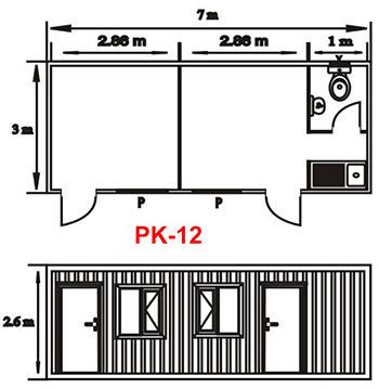 Şantiye Ofis Konteyner Projesi 12