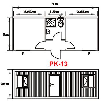Şantiye Ofis Konteyner Projesi 13