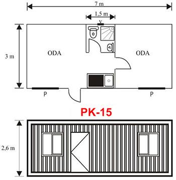 Şantiye Ofis Konteyner Projesi 15