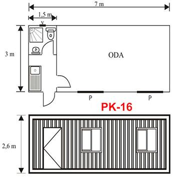 Şantiye Ofis Konteyner Projesi 16