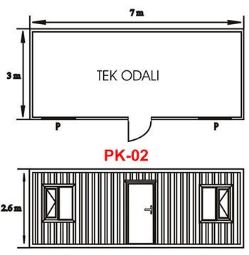 Şantiye Ofis Konteyner Projesi 02