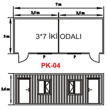 Şantiye Ofis Konteyner Projesi 04