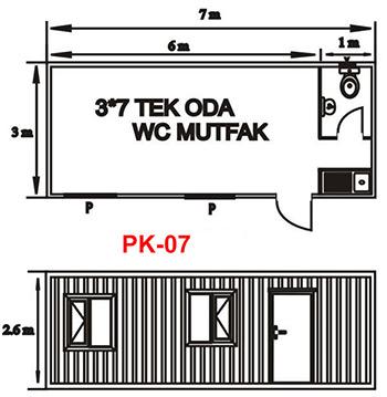 Şantiye Ofis Konteyner Projesi 07