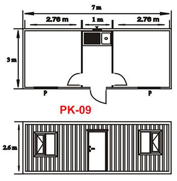 Şantiye Ofis Konteyner Projesi 09